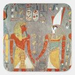Relief depicting Horemheb  before Horus Square Sticker