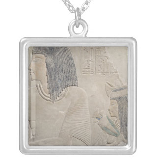 Relief depicting Imenmes and Dejat Silver Plated Necklace