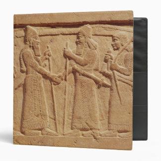 Relief depicting King Shalmaneser III 3 Ring Binder