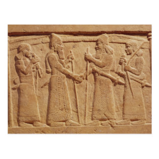 Relief depicting King Shalmaneser III Postcard