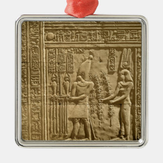 Relief depicting Ptolemy VIII Euergetes II Christmas Ornament