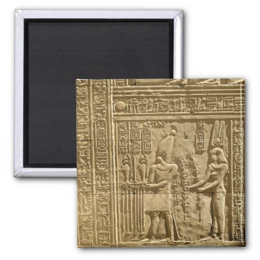 Relief depicting Ptolemy VIII Euergetes II Refrigerator Magnet