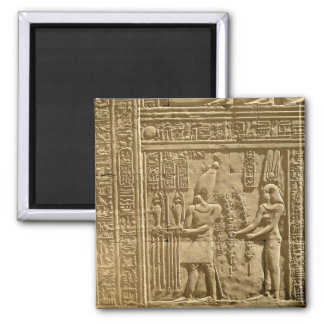 Relief depicting Ptolemy VIII Euergetes II Square Magnet