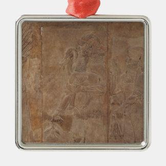 Relief depicting Sargon II Christmas Ornament