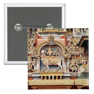Relief depicting Shiva and Parvati riding 15 Cm Square Badge