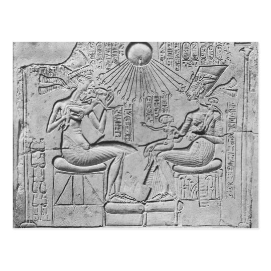 Relief depicting the Aten giving life Postcard