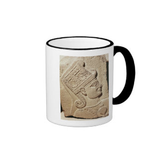 Relief depicting the head of a young prince coffee mug