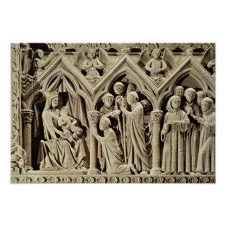 Relief depicting the Presentation of the Monks Poster