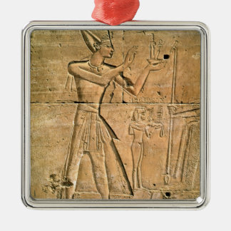 Relief depicting Tuthmosis III  making an Christmas Ornament
