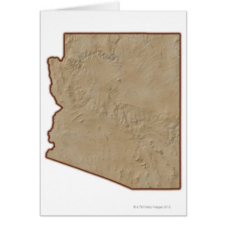 Relief Map of Arizona Card