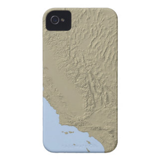 Relief Map of California and Nevada iPhone 4 Case