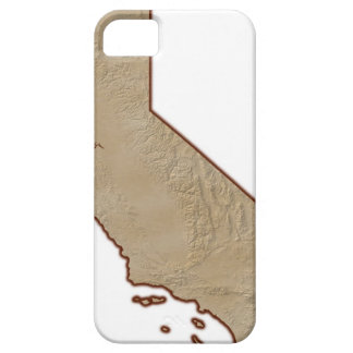 Relief Map of California Barely There iPhone 5 Case