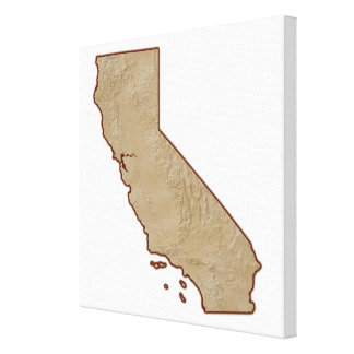 Relief Map of California Canvas Print