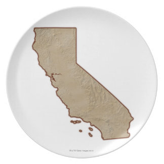 Relief Map of California Plate