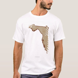 Relief Map of Florida T-Shirt