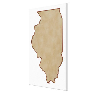 Relief Map of Illinois Canvas Print
