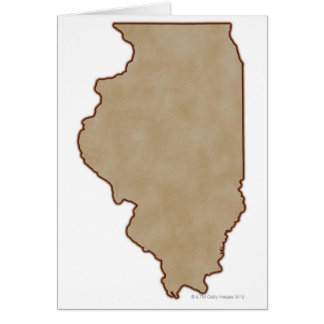 Relief Map of Illinois Card