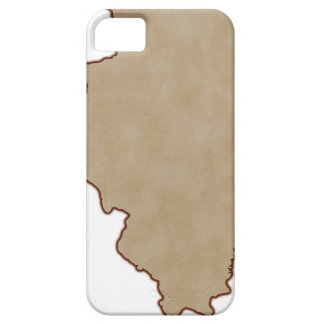 Relief Map of Illinois iPhone 5 Cover