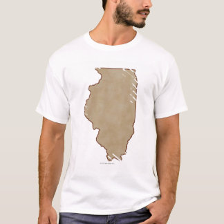Relief Map of Illinois T-Shirt