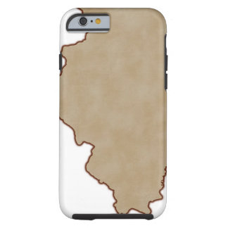 Relief Map of Illinois Tough iPhone 6 Case