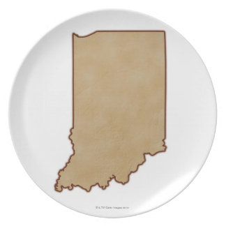 Relief Map of Indiana 2 Plate