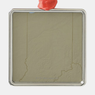 Relief Map of Indiana Christmas Ornament