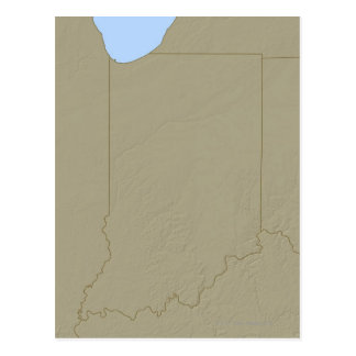 Relief Map of Indiana Postcard