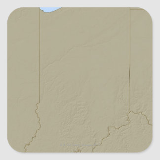 Relief Map of Indiana Square Sticker