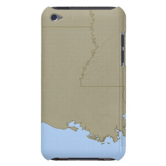 Relief Map of Louisiana iPod Touch Covers