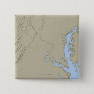 Relief Map of Maryland 15 Cm Square Badge