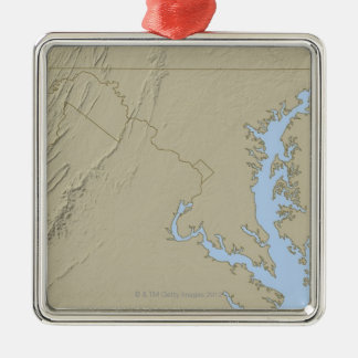 Relief Map of Maryland Christmas Ornament