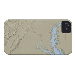 Relief Map of Maryland iPhone 4 Case