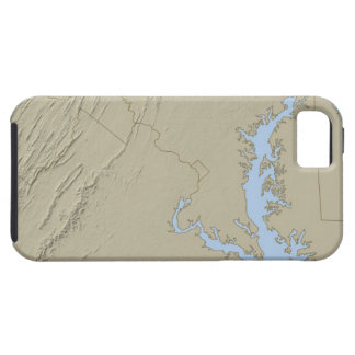 Relief Map of Maryland Tough iPhone 5 Case