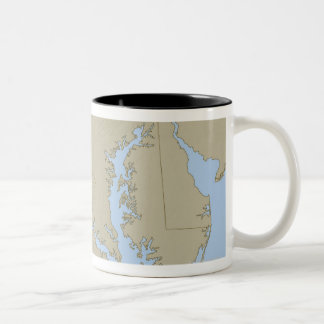 Relief Map of Maryland Two-Tone Coffee Mug