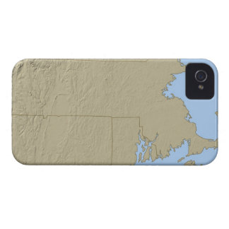 Relief Map of Massachusetts iPhone 4 Cover