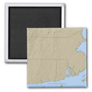 Relief Map of Massachusetts Square Magnet