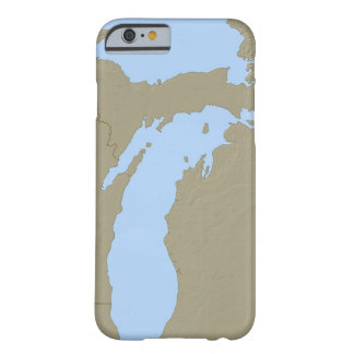 Relief Map of Michigan Barely There iPhone 6 Case