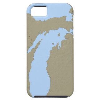 Relief Map of Michigan iPhone 5 Cover