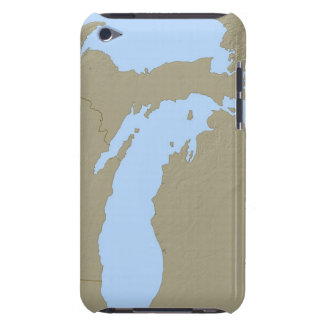 Relief Map of Michigan iPod Touch Cases