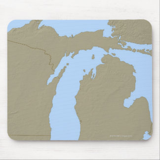 Relief Map of Michigan Mouse Mat