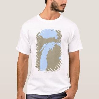 Relief Map of Michigan T-Shirt