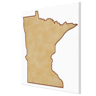 Relief Map of Minnesota Gallery Wrap Canvas