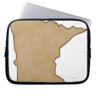 Relief Map of Minnesota Laptop Computer Sleeve