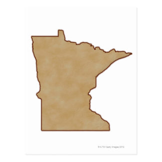 Relief Map of Minnesota Postcard