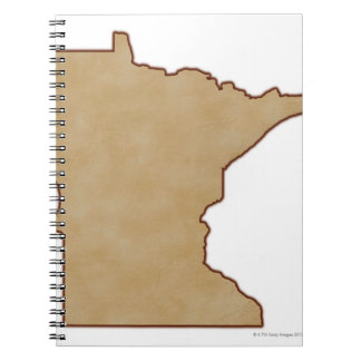 Relief Map of Minnesota Spiral Notebook