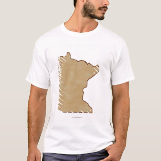Relief Map of Minnesota T-Shirt
