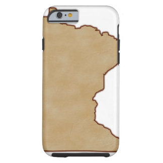Relief Map of Minnesota Tough iPhone 6 Case