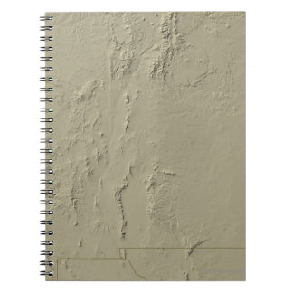 Relief Map of New Mexico Spiral Notebook