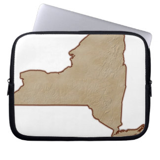 Relief Map of New York State Laptop Sleeve
