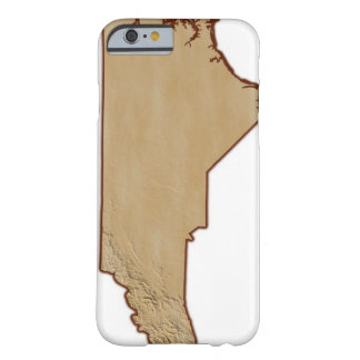 Relief Map of North Carolina Barely There iPhone 6 Case
